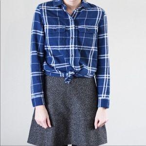 Madewell Boyfriend Flannel Oversized  Shirt  SZ S